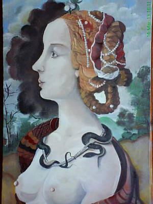 Painting - ''simonetta Vesputci'' by Asia Dzhibirova