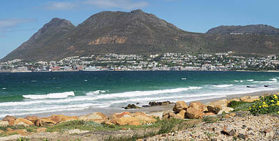 Cape Town Photograph - Simons Town Naval Base To Left Seen by Panoramic Images