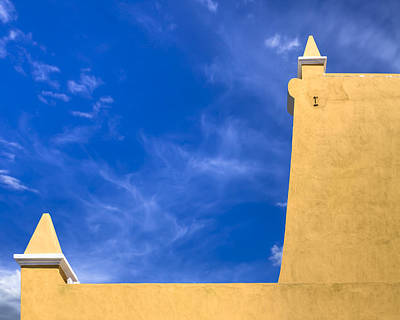 Photograph - Simple Architecture In Puebla Mexico - Blue And Gold by Mark E Tisdale