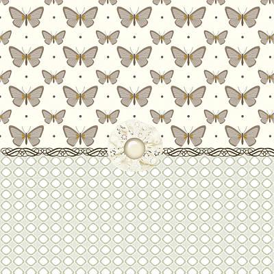 Blooming Digital Art - Simple Butterflies by Debra  Miller