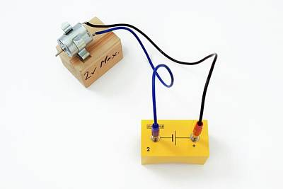 Circuit Photograph - Simple Circuit With Motor by Trevor Clifford Photography