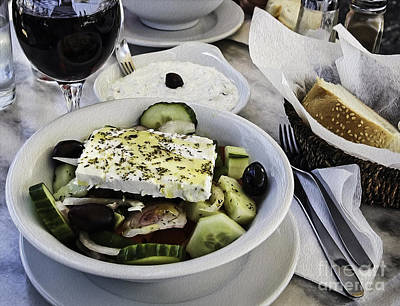 Photograph - Simple Greek Salad by Phil Cardamone