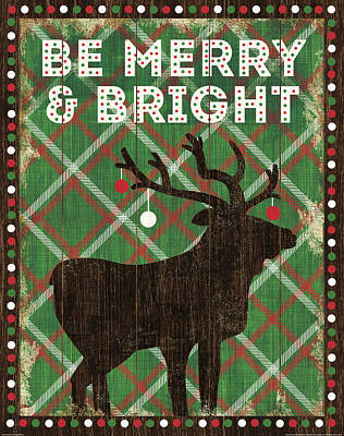 Simple Living Holiday Be Merry Art Print by Michael Mullan