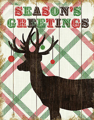 Holiday Painting - Simple Living Holiday Deer by Michael Mullan