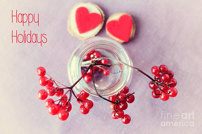 Christmas Cards Photograph - Simple Love Happy Holidays by Sabine Jacobs