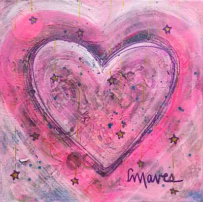 Painting - Simple Love Simple Heart by Laurie Maves ART