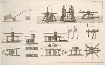 Art Of Building Photograph - Simple Machines by Science, Industry And Business Library/new York Public Library