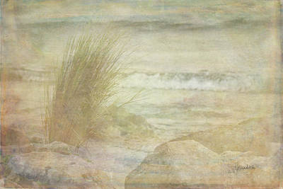 Beach Landscape Painting - Simple View by Ramona Murdock