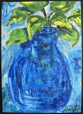 Painting - Simple Greens by Reina Resto