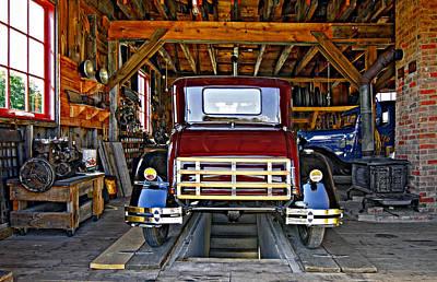 Old Tow Truck Photograph - Simpler Times 2 by Steve Harrington