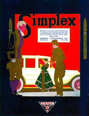 Photograph - Simplex Automobile Company by Uknown