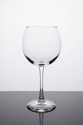 Cocktails Photograph - Simplicity - Empty Red Wine Glass by Erin Cadigan