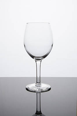Martini Royalty-Free and Rights-Managed Images - Simplicity - Empty White Wine Glass by Erin Cadigan