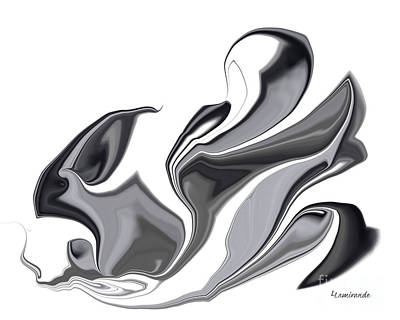 Painting - Simplicity In Black by Louise Lamirande