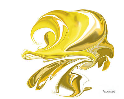 Digital Art - Simplicity In Yellow by Louise Lamirande