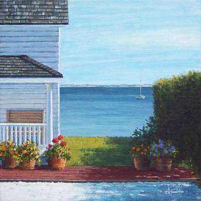 P Town Painting - Simplicity Provincetown by Candice Ronesi