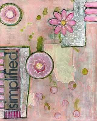 Vintage Wallpaper Painting - Simplified Abstract Art by Blenda Studio