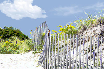 Sand Dunes Painting - Simplified View Of Coastal Dune by Elaine Plesser