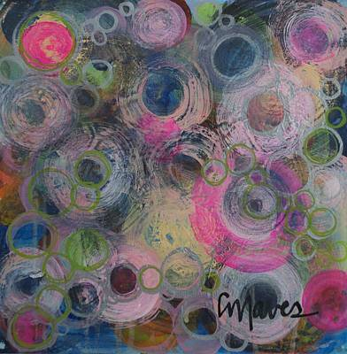 Painting - Simply Circles by Laurie Maves ART