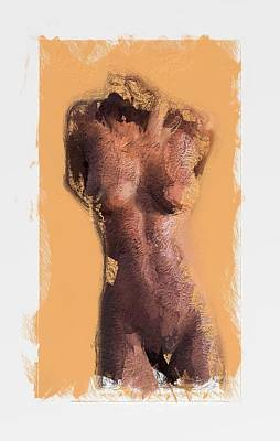 Abstract Female Torso Painting - Simply Curves by Steve K