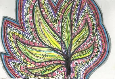 Folk Art Mixed Media - Simply Doodles  by Noopur  Agarwal