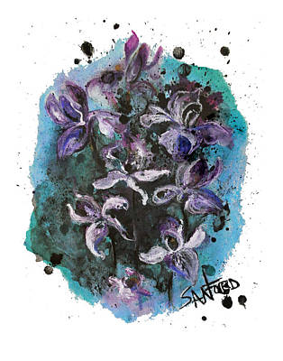 Amanda Drawing - Simply Iris-sistable by Amanda  Sanford