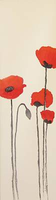Painting - Simply Poppies 2. by Elvira Ingram