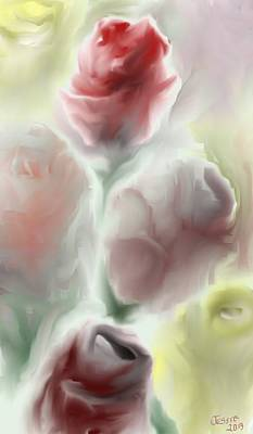 Digital Art - Simply Roses by Jessica Wright