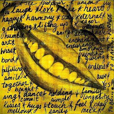 Draw Wall Art - Photograph - Simply Smile And Your Golden Virtues Will Be Written All Over You by Artist RiA