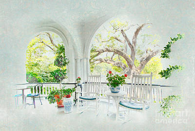 Rocking Chairs Painting - Simply Southern by Dan Carmichael