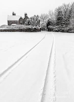 Tires Digital Art - Simply Winter by Adrian Evans