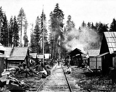 Print featuring the photograph Simpson Timber Company Logging Camp by Joe Jeffers