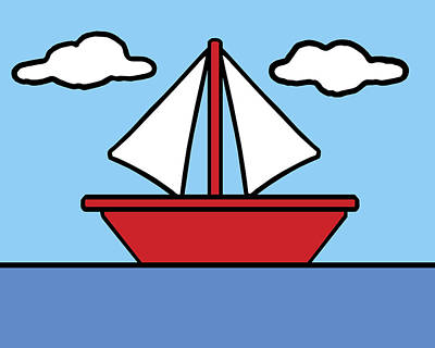 Nautical Digital Art - Simpsons Sailboat by Finlay McNevin