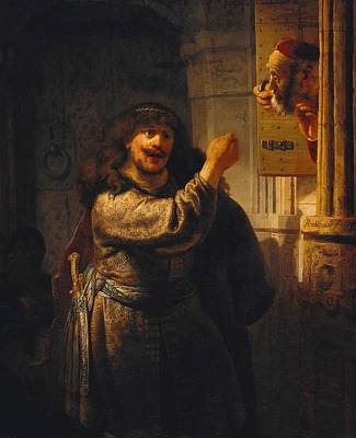 Simson Threatened His Father-in-law Art Print by Rembrandt van Rijn