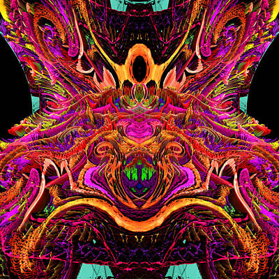 Digital Art - Simulated Beats 4 by Zac AlleyWalker Lowing