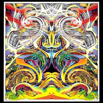 Digital Art - Simulated Beats B Vector 6  by Zac AlleyWalker Lowing