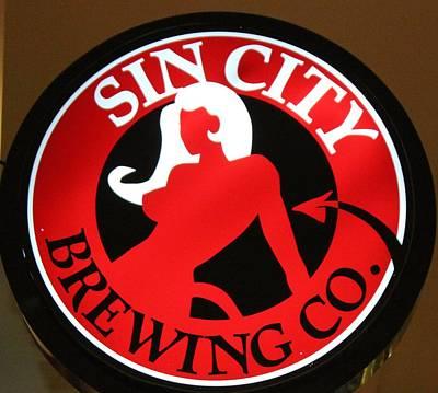 Sin City Brewing  Art Print by Cynthia Guinn