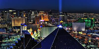 Photograph - Sin City Panorama by Benjamin Yeager