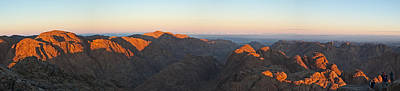 Art Print featuring the pyrography Sinai View From St. Catherine Montain On Sunrise by Julis Simo