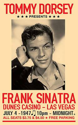 Concert Digital Art - Sinatra Concert by Gary Grayson