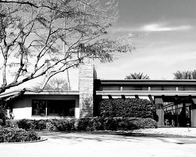 Sinatra House Photograph - Sinatra Home Bw Palm Springs by William Dey