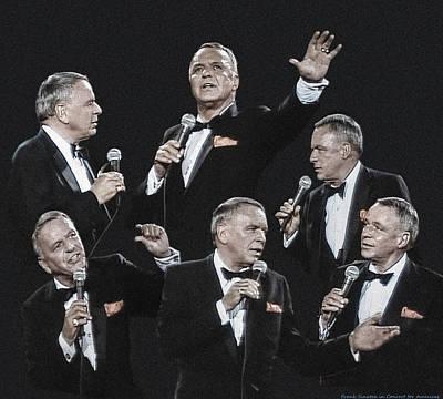 Sinatra In Concert Art Print by Vladimir Kholostykh
