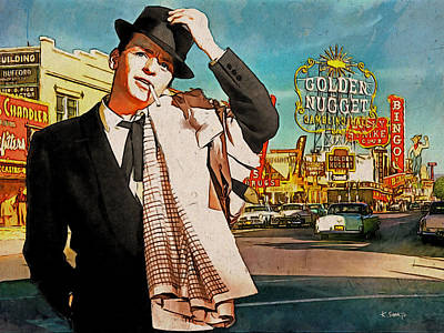 Sinatra In Vegas 1955 Art Print