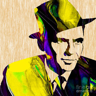 Frank Mixed Media - Sinatra by Marvin Blaine