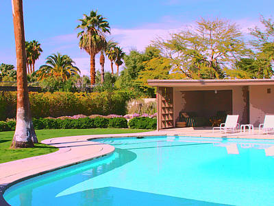 Featured Images Photograph - Sinatra Pool Cabana Palm Springs by William Dey