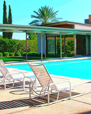 Old House Photograph - Sinatra Pool Palm Springs by William Dey