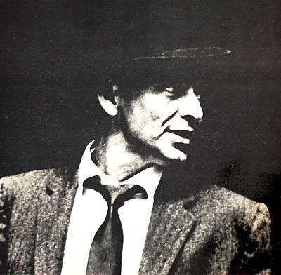 Black Tie Mixed Media - Sinatra Portrait by Gina Dsgn