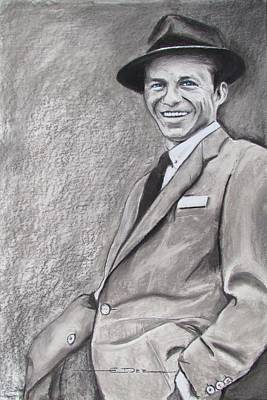 Drawing - Sinatra - The Voice by Eric Dee