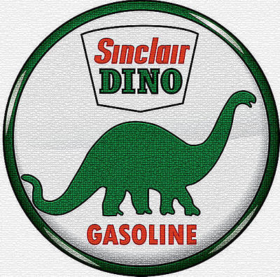 Digital Art - Sinclair Dino Gasoline Sign by Marvin Blaine