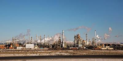 Sinclair Photograph - Sinclair Oil Refinery by Jim West
